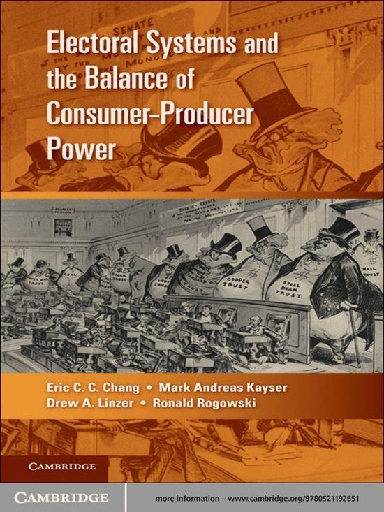 Boek cover Electoral Systems and the Balance of Consumer-Producer Power van Eric C. C. Chang (Onbekend)
