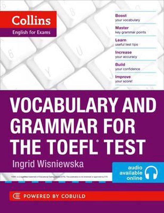 Boek cover Vocabulary and Grammar for the TOEFL Test (Collins English for the TOEFL Test ) van Ingrid Wisniewska