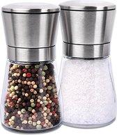 peper en zoutmolen set rvs en glas