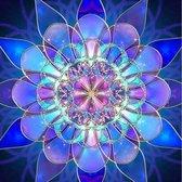 Diamond Painting – Mandala – 25 x 30 – Blauw - Maak de Mooiste Schilderijen Helemaal Zelf