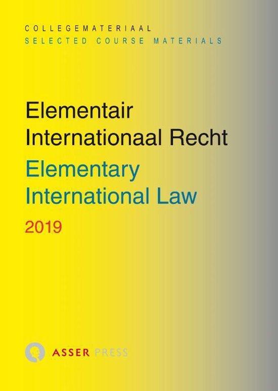Boek cover Elementair Internationaal Recht 2019 van Asser Press (Paperback)