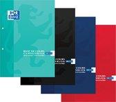 Oxford Cursusblokken - A4 - Ruit 5mm - 2 gaats - Voordeelpakket - 3 willekeurige kleuren