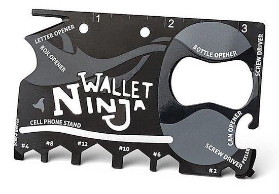 Ninja Wallet Credicard Tool - Voor in je Portemonnee - Wallet Ninja - 18 in 1 Tool