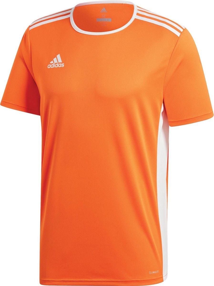 adidas Entrada 18 SS Jersey Teamshirt Heren Sportshirt - Maat L  - Mannen - oranje/wit