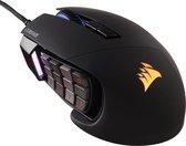 Corsair Scimitar Pro RGB - Optische Gaming Muis - MOBA+MMO - 16000 DPI - Zwart