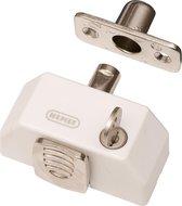 Nemef veiligheidsdruksluiting 2566/1 - Wit - Gelijksluitend - Afsluitbaar met sleutel - SKG* - Met 2 sleutels - 2 druksluitingen in verpakking