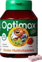 Optimax Kinder Multivitaminen Vanaf 1 Jaar - Aardbei - 100 Kauwbeertjes