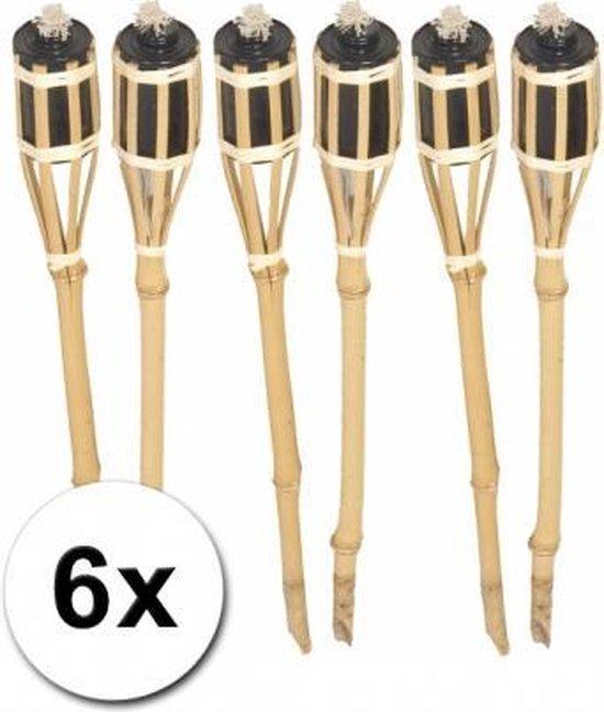 Bamboe tuinfakkels set 6 stuks 61 cm