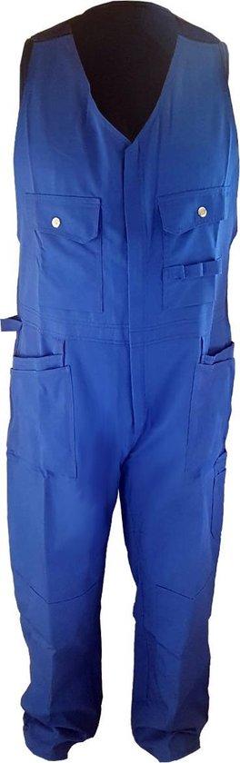 Silvast Amerikaanse Overall- Amerikaanse - Maat 58 - Kleur Blauw - Met kniezakken - Geschikt voor tuin en klussen