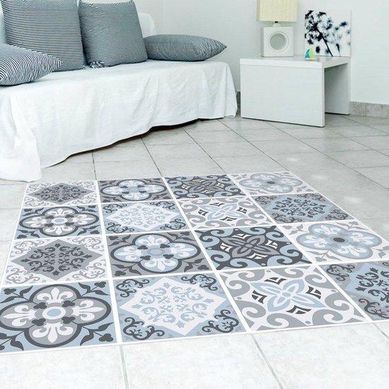 Vloer Muursticker voor Badkamer & Keuken Anti Slip Decoratie Verwijderbare Muurschildering Decals Vinyl Mediterrane Blauw