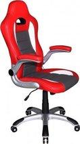 hjh office Racer Sport - Bureaustoel - Gamingstoel - Rood / wit
