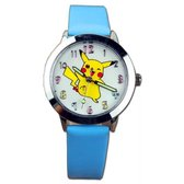 Pokemon horloge, Pikachu watch blauw  bandje