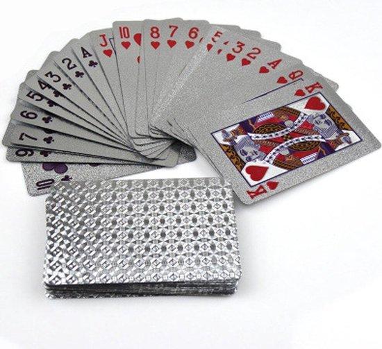 Thumbnail van een extra afbeelding van het spel ✿Brenlux - Kaartspel - Waterproof kaarten - Pokerkaarten - Zilver speelkaarten - Speelkaarten waterdicht - Spelletje kaarten - Potje kaarten