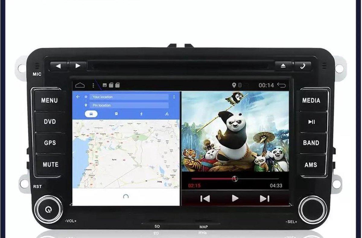 nu GRATIS CAMERA!!! Volkswagen Seat Skoda Android 10 navigatie 2+32GB WiFi Bluetooth USB SD kaart