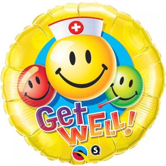 Get Well folie ballon, 46 cm groot, Beterschap