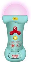 Woezel & Pip Microfoon -  24cm - Blauw/Roze