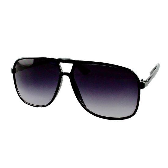 Aviator Piloten Zonnebril Heren Classic Wide Zwart - Pilotenbril - Donkere Zwarte Glazen