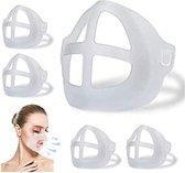 Origineel Airframe Mondmasker  - Geen beslagen bril meer - Mondkapje houder voor Comfortabele Ademhaling - Lippenstift vriendelijk - Herbruikbaar - Ondersteunend Frame