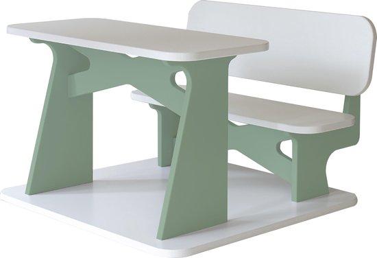 Dipperdee kinderbureau wit groen - hout - 65cm x 60cm x 41cm