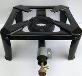 Wokbrander 30 X 30 cm - Gasbrander - Camping kooktoestel - Zwart