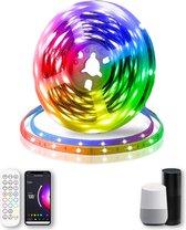 Smart LED Light Strip Multicolor met Afstandsbediening - Stem- en Appbediening - 5 meter