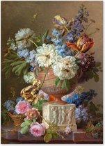 Graphic Message - Schilderij op Canvas - Bloemen Stilleven - Gerard van Spaendonck - Woonkamer Kunst