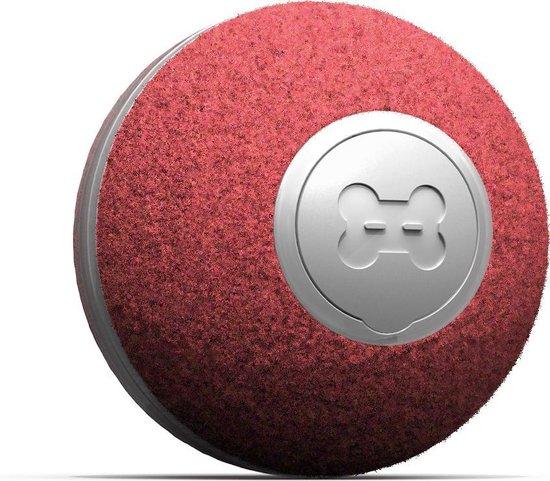 Cheerble mini ball 2.0 - Slimme interactieve zelf rollende bal voor katten - 3 speelmodi - Rood