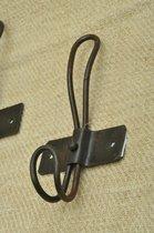 Kolony ,Zwarte Schoolhaak, Kapstokhaak, 17 cm lang, breed 8 cm, komt 4 cm naar voren