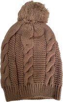 Premium Kwaliteit Dames Muts / Beanie - Hoogwaardige kwaliteit   Bruin