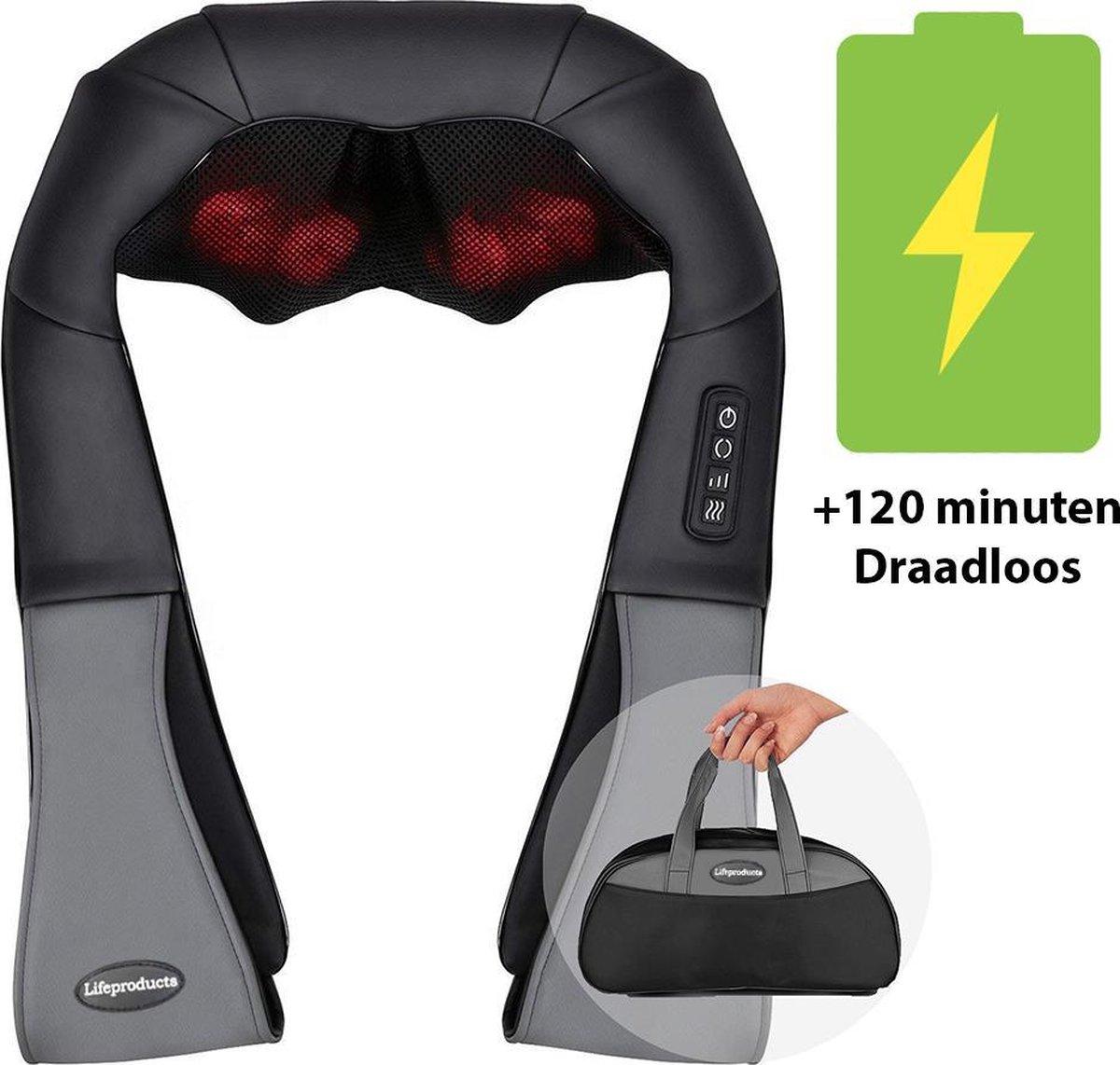Lifeproducts - Draadloos Massagekussen - Shiatsu Massage