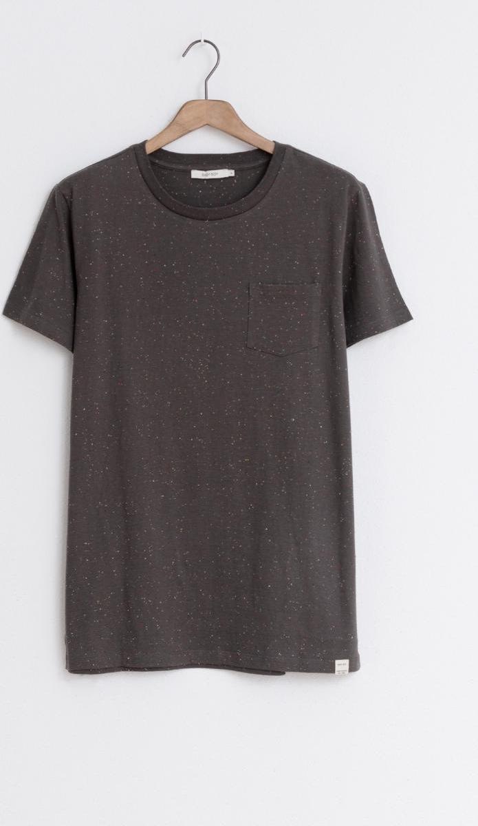 Sissy-Boy - Groen/grijs t-shirt met borstzak Essential