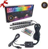Auto Interieur RGB Led Verlichting| Auto Led Verlichting | Auto RGB Led Binnen Verlichting | Auto Sfeerverlichting | LED Verlichting met Afstandsbediening | LED Lamp Muziek |USB Variant | Sinterklaas Cadeau | Kerst