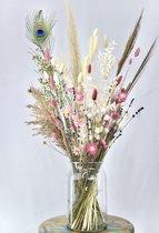 Droogbloemen - boeket 70cm - Winter White