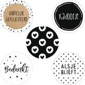 Sticker Set SOPHIA | 30x | Stickers / Sluitstickers / Cadeaustickers / Etiketten | 35 mm | volwassenen