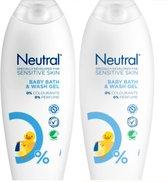 Neutral 0% Baby Washgel - 2 x 250 ml - Voordeelverpakking