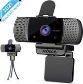 Nince Webcam van hoge Kwaliteit 2021 Model Full HD 1080P - Webcam voor pc / webcam voor laptop - Webcam met Microfoon - Webcams