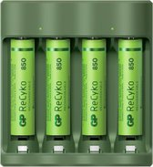 GP ReCyko AA/AAA Everyday Charger (USB) incl. 4x AAA batterijen 850mAh