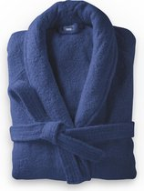 Dreamhouse Soft Terry - Badjas - Katoen badstof - S/M - Donker Blauw - Ultra zacht en warm