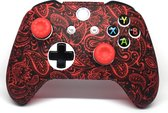 Xbox One Controller Skin | Controller hoesje + Thump grips | Red leaf