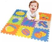 Puzzelmat - Groente & Fruit - Speelkleed Voor Kinderen - Foam Speelmat  - Educatief Speel Kleed voor Baby/Peuters/Kinderen vanaf 0 jaar - 28 x 28 CM