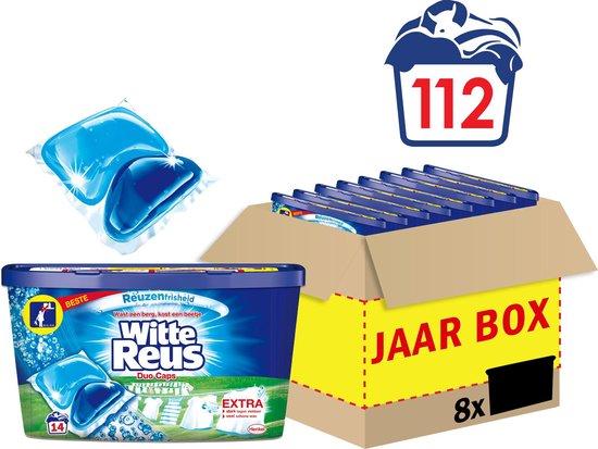 Witte Reus Duo Caps Wascapsules - Wasmiddel Capsules - Voordeelverpakking - 8 x 14 wasbeurten