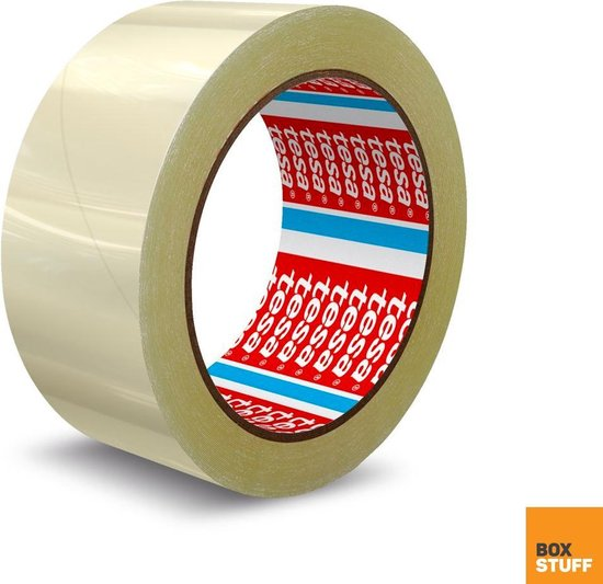 Verpakkingstape - 48MM x 66 Meter - Tesa Verpakkingstape - Taperollen - Noisy - Transparante Tape - Verzenden