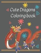 Cute Dragons Coloring book