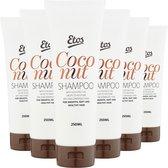 Etos Shampoo Kokos - tegen droog en beschadigd haar - 6 x 250 ml