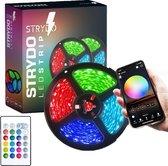 Led Strip - Led Strip 5 Meter - RGB - Led light Strip - LED lamp - Met Afstandsbediening - Binnenverlichting  - App Functie - Plug & Play - Veranda Verlichting - Buitenverlichting-  Kastverlichting-  kerstverlichting -zelfklevend - kleurverandering