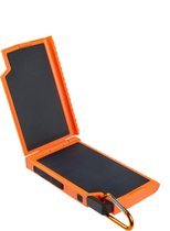 Xtorm Solar powerbank - Outdoor oplader op zonne-energie – 10.000 mAh -  Fast Charge – led power indicator – USB 2x – USB-C - oranje