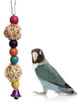 Speelgoed voor Vogels - Hout met Belletje - Dwergpapegaai/Papegaai