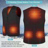 Be Koel Verwarmde Bodywarmer met 10.000 mAh Powerbank - Verwarmd Vest - Unisex - Heated Vest - Inclu