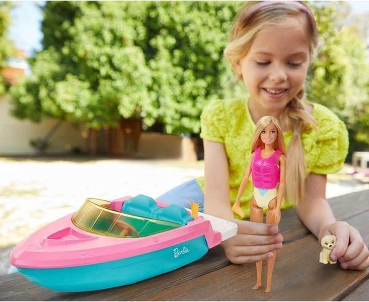 Barbie-boot Met puppy en Accessoires