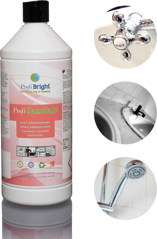ProfiBright Zakelijk - ProfiSanitair - Sanitairreiniger - Badkamerreiniger - Fris van geur - Navul - Concentraat - HACCP - Dierproefvrij - 1 liter